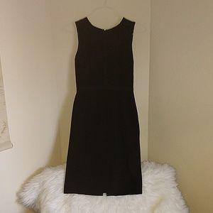 WHBM Black Sheath Dress with Minimal Details